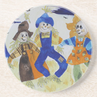 Scarecrows Dancing Beverage Coasters
