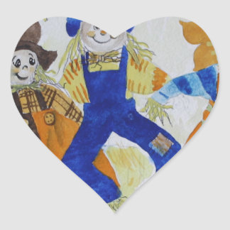 Scarecrows Dancing Heart Sticker