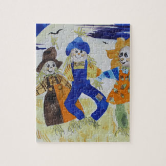 Scarecrows Dancing Jigsaw Puzzle