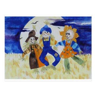 Scarecrows Dancing Postcard