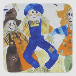 Scarecrows Dancing Square Sticker