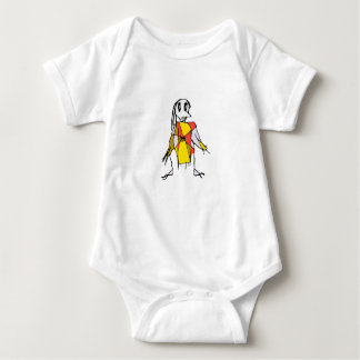 Scarecrows Drawing Baby Bodysuit