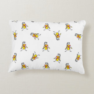 Scarecrows Drawing Decorative Pillow