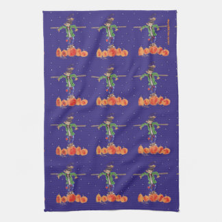 Scarecrows Everywhere Seasonal Autumn Kitchen Towel