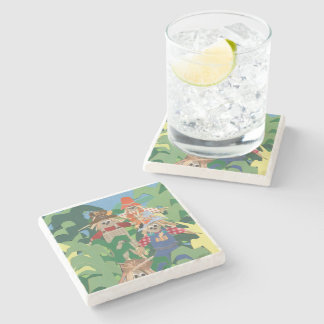 Scarecrows Stone Coaster