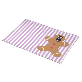 Scared Gingerbread Man Cookie Place Mats