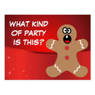 Scared Gingerbread Men the Best Christmas Guests Postcard