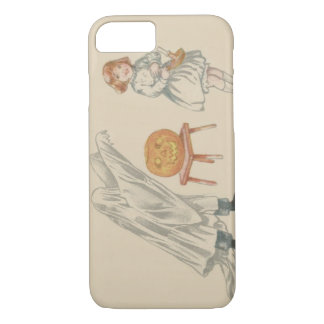 Scared Girl Ghost Costume Jack O Lantern iPhone 7 Case