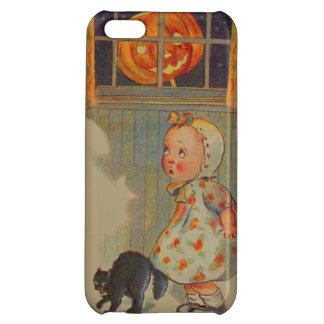 Scared Girl Jack O' Lantern Black Cat Prank iPhone 5C Cover