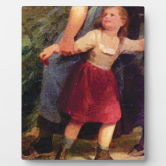 scared little girl plaque