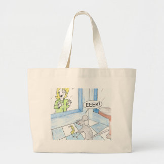 Scared Mouse Birthday Large Tote Bag