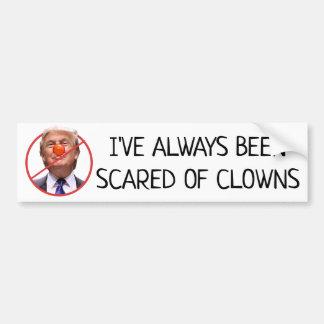 Scared of Clowns Anti Donald Trump Bumper Sticker