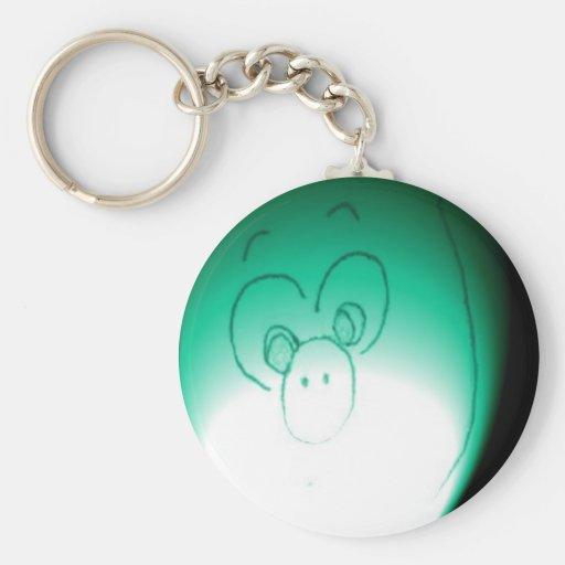 Scared Piggy caught in the Dark Keychain