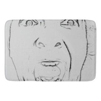 Scared Screaming Face Print Hilarious Bath Mat