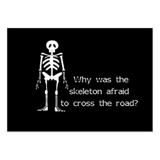 Scared Skeleton Large Business Card