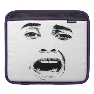 Scared Woman Expression iPad Sleeve