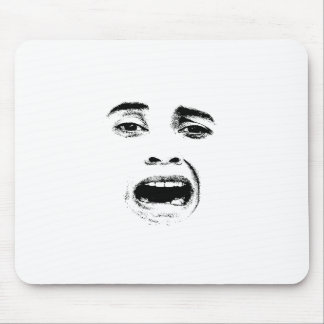 Scared Woman Expression Mouse Pad