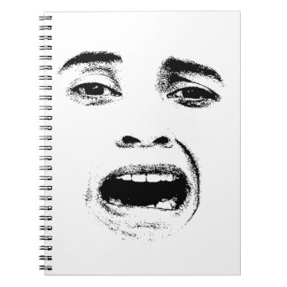 Scared Woman Expression Notebook