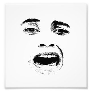 Scared Woman Expression Photo Print
