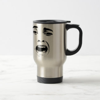 Scared Woman Expression Travel Mug