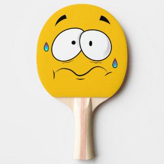 Scared Yellow Emoji Ping Pong Paddle