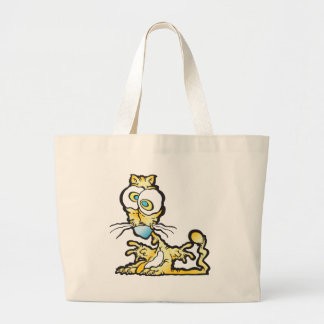 scaredee_cat tote bags