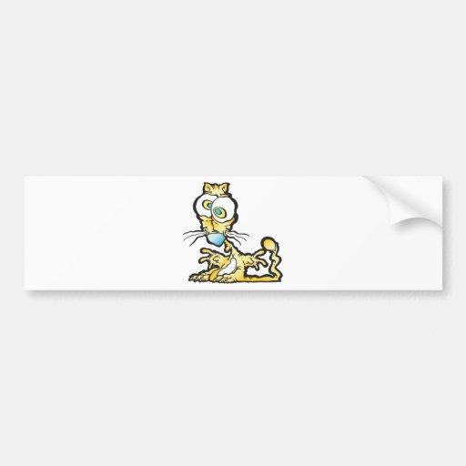 scaredee_cat bumper stickers