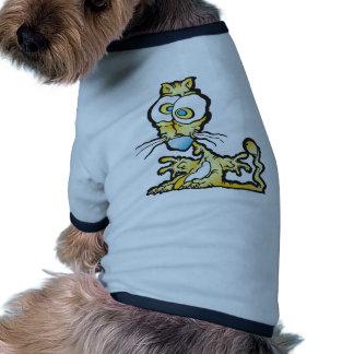 scaredee_cat dog tee shirt