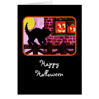 Scaredy cat greeting card