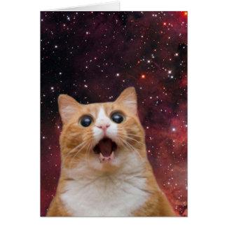 scaredy cat in space card