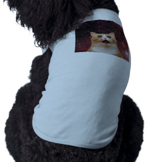 scaredy cat in space doggie tshirt