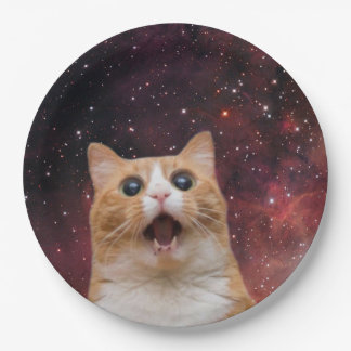 scaredy cat in space paper plate