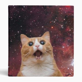 scaredy cat in space vinyl binder