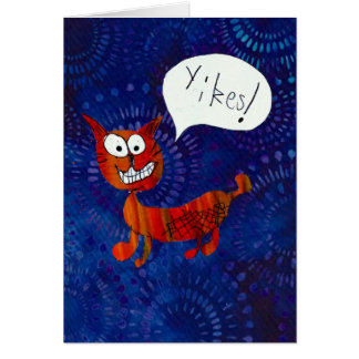Scaredy Cat says YIKES! card