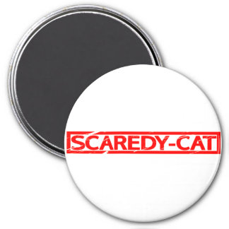 Scaredy-cat Stamp Magnet