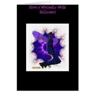 Scarey Faery Halloween Card