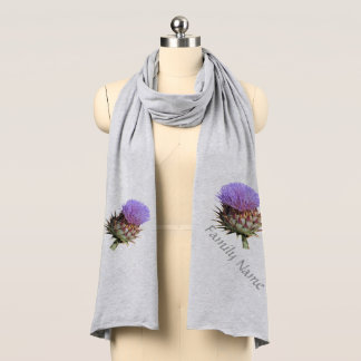 Scarf - Purple Thistle with Name