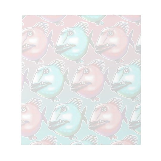 scarface fish cartoon style funny illustration notepad