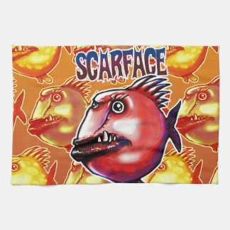 scarface fish kitchen towel