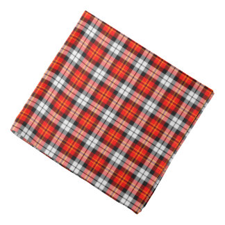 Scarlet and Black Sporty Plaid Bandana