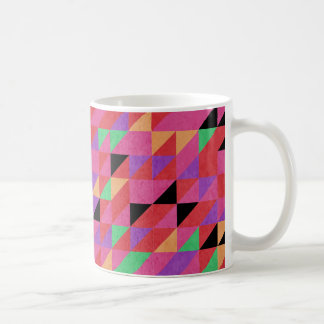 Scarlet and Crimson Triangles Coffee Mug