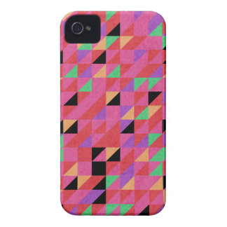 Scarlet and Crimson Triangles iPhone 4 Case