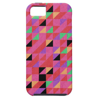 Scarlet and Crimson Triangles iPhone 5 Cover