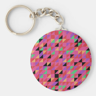 Scarlet and Crimson Triangles Keychain