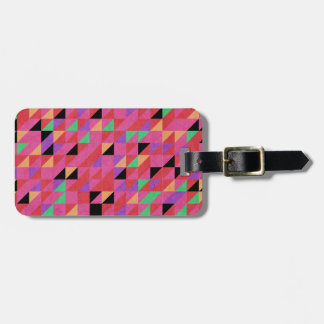 Scarlet and Crimson Triangles Luggage Tag