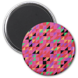 Scarlet and Crimson Triangles Magnet