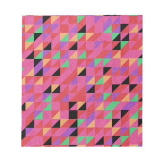 Scarlet and Crimson Triangles Notepad