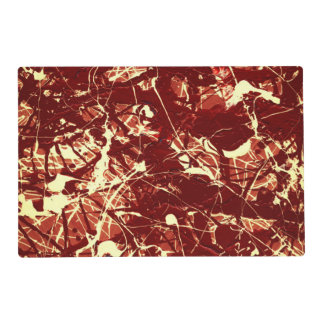 SCARLET BILLOWS (an abstract art design) ~ Laminated Placemat