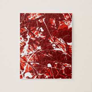 SCARLET BILLOWS (an abstract art design) ~ Puzzle