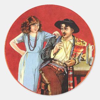 Scarlet Days Movie Poster Round Stickers